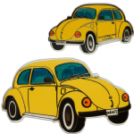 Geo-Beetle (Geo-Bug) Geocoin - Yellow